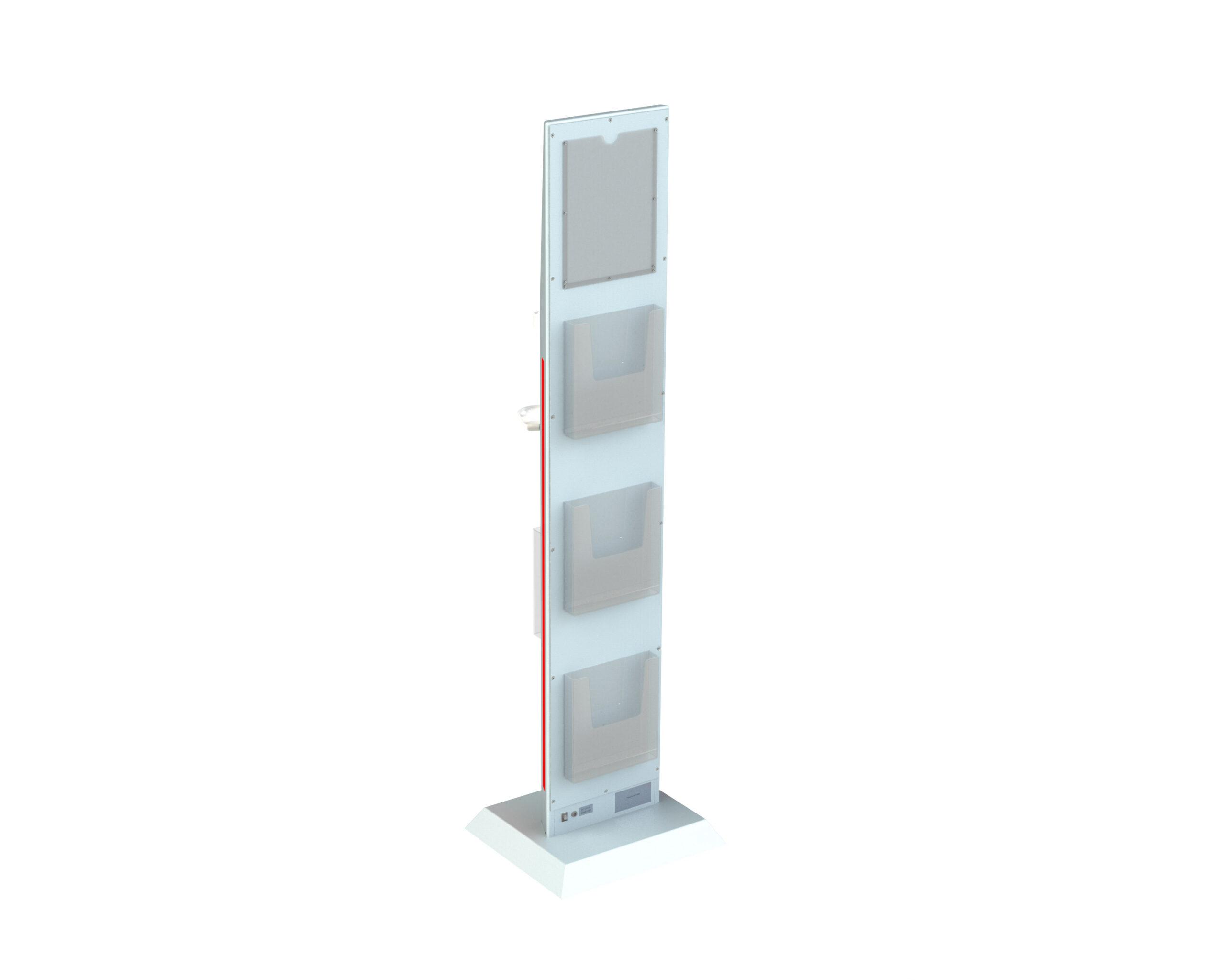 Hygienesaeule-Monolith-LED-4-Prospekthalter-hinten