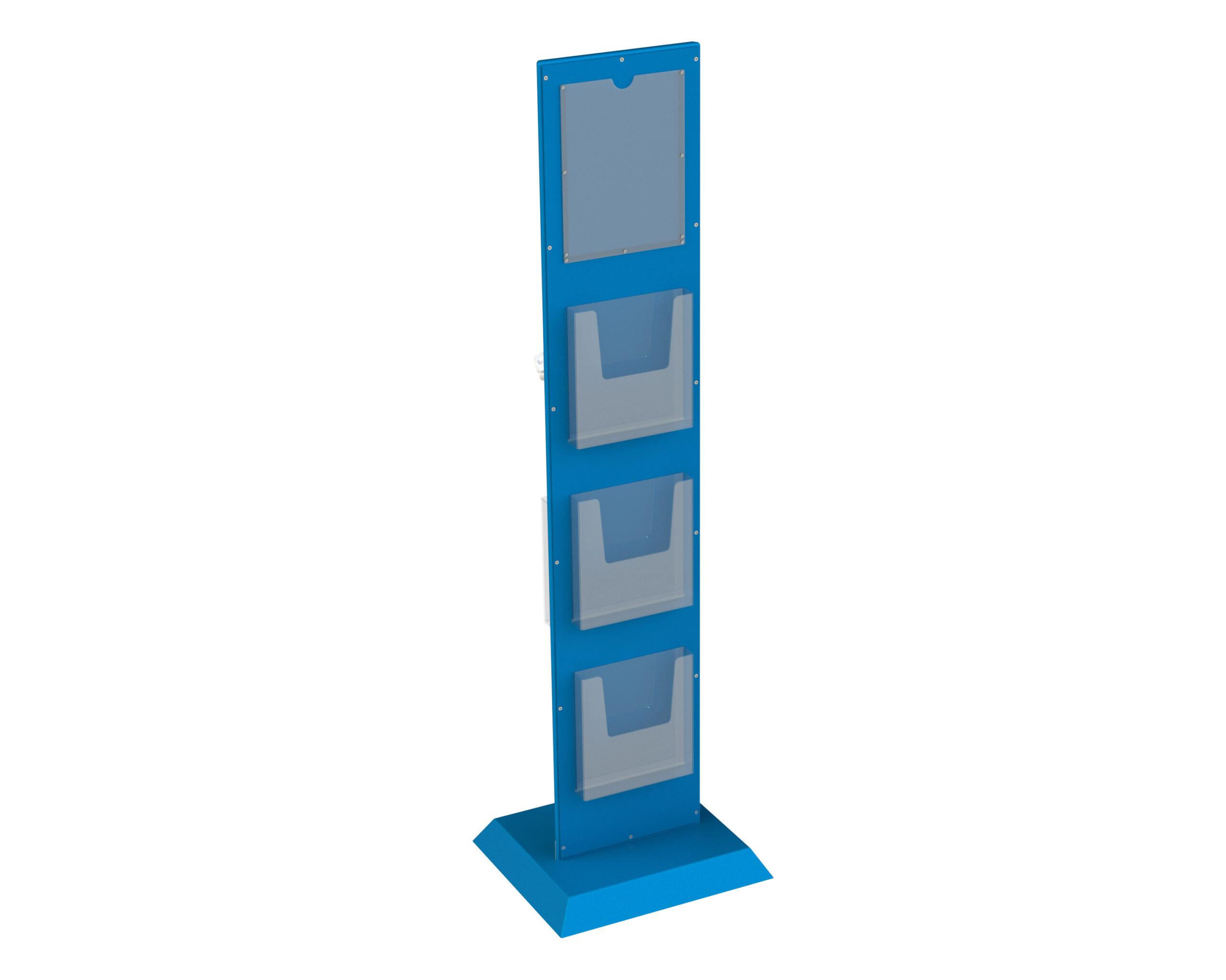 Hygienesaeule-Monolith-TRAPEZ-4-Prospekthalter-Rueckseite