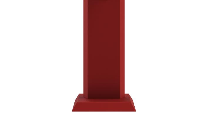 hygienesäule-monolith-trapez-standfuß