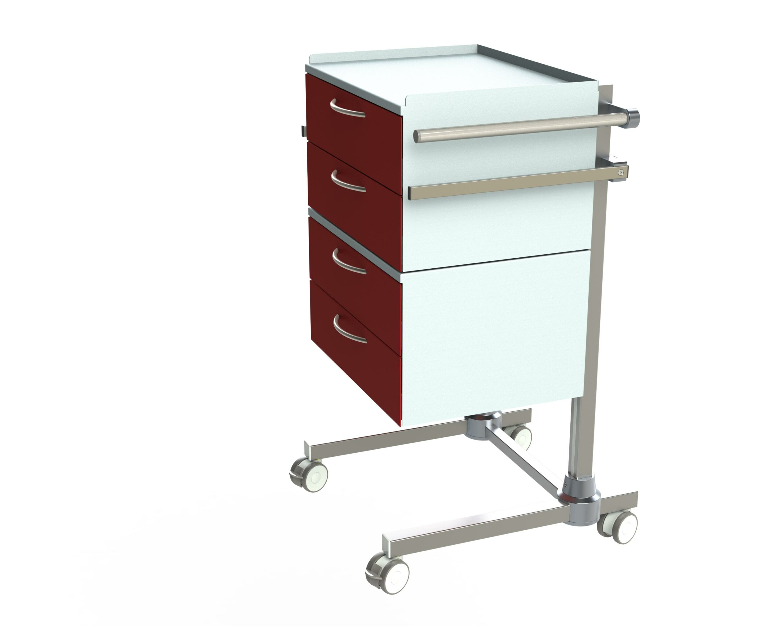 Hygienestation-Henry-4-Schubladen-Schiebegriff