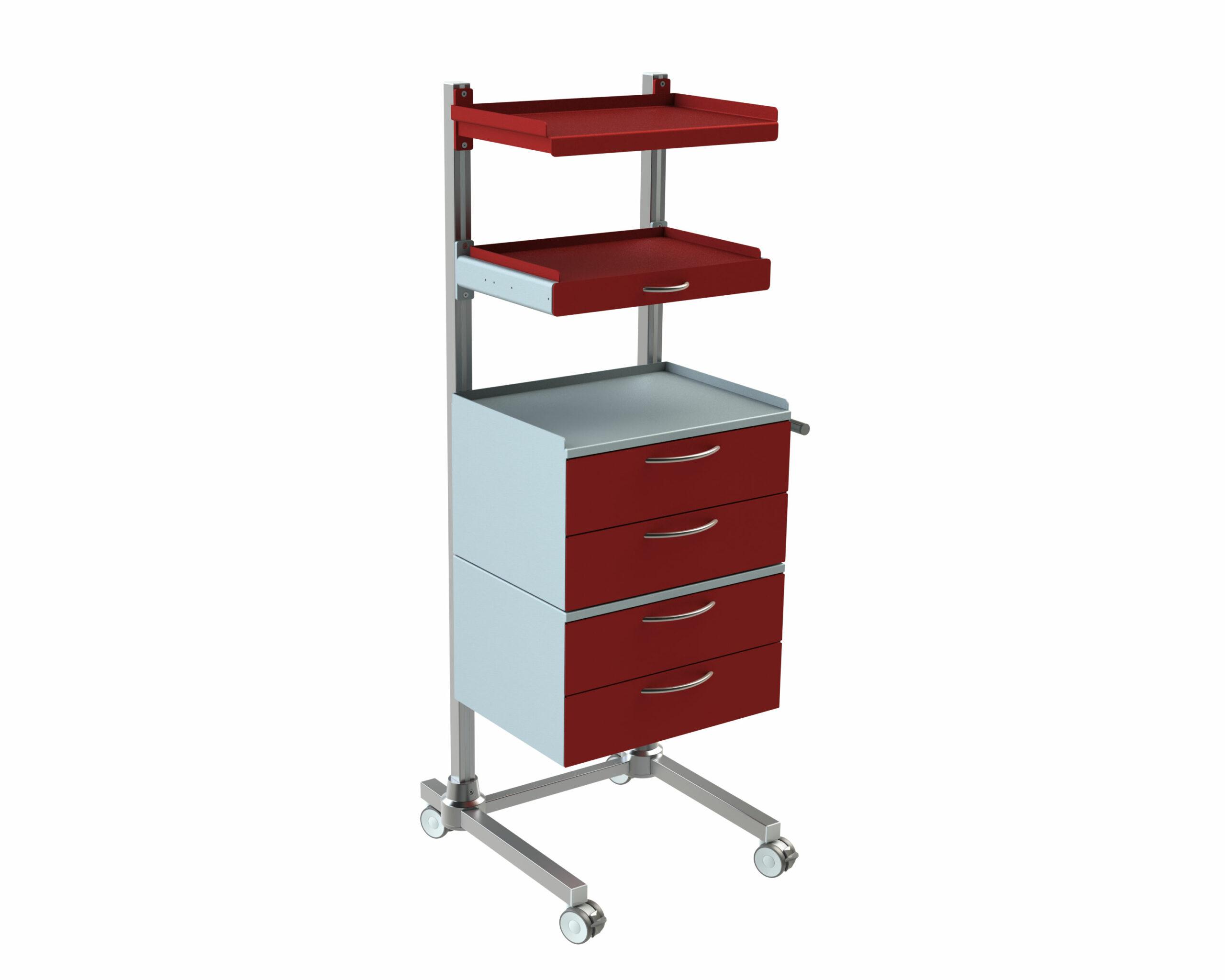 Hygienestation-Henry-Schubladen-Normschiene-Ausziehplatte-Arbeitsplatte-Reling